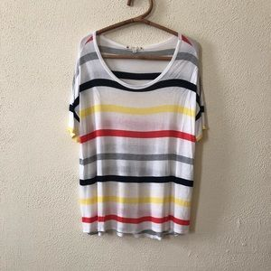 Soft Joie Oversized Striped Tee M